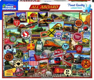 All Aboard 1000 piece jigsaw puzzle 750mm x 600mm  (wmp)